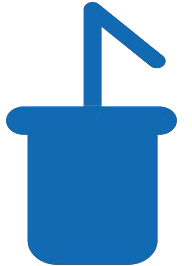 simplified blue cup icon with a straw